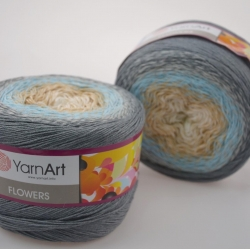Yarnart Моточная пряжа Flowers материал хлопок +акрил цвет  мултиколор 268