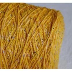 Malavasi Пряжа на бобинах Merino/pailletts материал смесовка цвет желтый