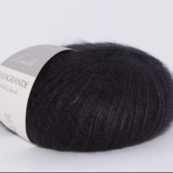 Casagrande Моточная пряжа Kidsilk материал кидмохер, шелк цвет  черный 22