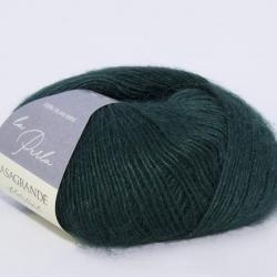Casagrande Моточная пряжа La Perla материал альпака, шелк цвет темный зеленый 15
