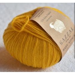 Gazzal Fancy Yarns Моточная пряжа Baby Alpaca материал  альпака цвет желтый 46003