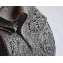 New Mill Пряжа на бобинах Cashmere Seta материал кашемир шелк цвет серый