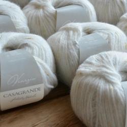 Casagrande Моточная пряжа Venezia материал бэби альпака вискоза цвет панна 811