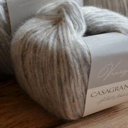 Casagrande Моточная пряжа Venezia материал бэби альпака вискоза цвет светло-серый 310
