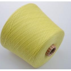 Biella Yarn  Пряжа на бобинах Victoria  материал меринос  цвет лимонный курд