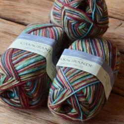 Casagrande Моточная пряжа Stripy Jacquard меринос полиамид цвет 30268