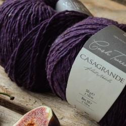 Casagrande Моточная пряжа CashTweed материал меринос+кашемир цвет фиолетовый 446