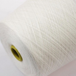 Zegna Baruffa   Пряжа на бобинах Nanchino  материал меринос+шелк  цвет белый