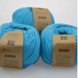 Fibranatura Моточная пряжа Dona материал меринос цвет голубой 106-19