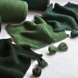 Lanerossi Пряжа на бобинах Folco материал меринос+акрил  цвет зеленый малахит