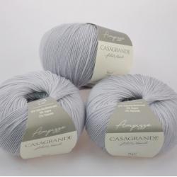 Casagrande Моточная пряжа Ampezzo материал меринос+ангора цвет серо-голубой 15