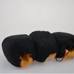 Lanoso Моточная пряжа Papillon материал  хлопок+вискоза цвет черный 27