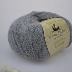 Vento d'Italia Моточная пряжа Angora 70 Rabbit материал ангора цвет серый меланж 11