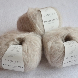 Katia Моточная пряжа Alpaca Silver материал   альпака цвет  beige-silver 251