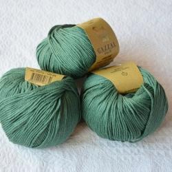 Gazzal Fancy Yarns Моточная пряжа Organic Baby Cotton материал  органическиий хлопок цвет полынь 427