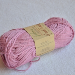 Fibranatura Моточная пряжа Good Earth материал смесовка цвет розовая сирень 106