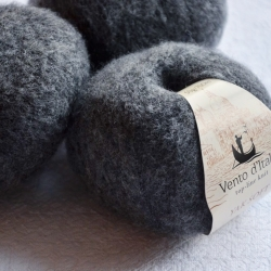 Vento d'Italia Моточная пряжа Yak Soft материал  як цвет маренго 10