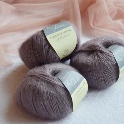 Casagrande Моточная пряжа La Perla материал альпака, шелк цвет темный тауп