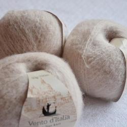 Vento d'Italia Моточная пряжа Yak Soft материал  як цвет бежевый  17