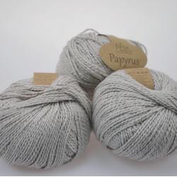 Fibranatura Моточная пряжа Papyrus материал смесовка цвет серый 229-21