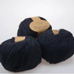 Fibranatura Моточная пряжа Papyrus материал смесовка цвет черный 229-26