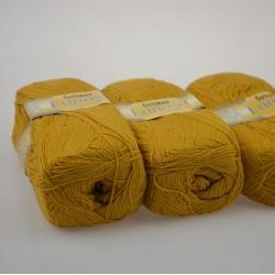 Lanoso Моточная пряжа Cotonax материал  смесовка цвет горчица 903