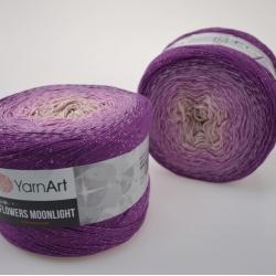 Yarnart Моточная пряжа Flowers Moonlight материал хлопок +люрекс цвет  мултиколор 3290