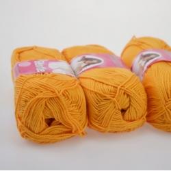 Lanoso Моточная пряжа Gentle материал  хлопок цвет манго 906