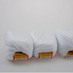 Lanoso Моточная пряжа Papillon материал  хлопок+вискоза цвет белый 01