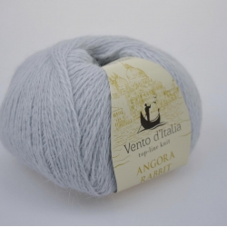 Vento d'Italia Моточная пряжа Angora 70 Rabbit материал ангора цвет серебро 22