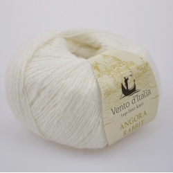 Vento d'Italia Моточная пряжа Angora 70 Rabbit материал ангора цвет белый  01