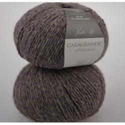 Casagrande Моточная пряжа Yak 90 материал як цвет  натуральный с лавандой 656