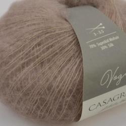 Casagrande Моточная пряжа Vogue материал суперкидмохер, шелк цвет какао с молоком 617