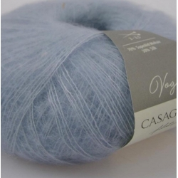 Casagrande Моточная пряжа Vogue материал суперкидмохер, шелк цвет голубой лед 558