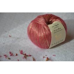 Gazzal Fancy Yarns Моточная пряжа Rock N Roll материал  смесовка цвет розовый  13190