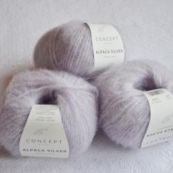 Katia Моточная пряжа Alpaca Silver материал   альпака цвет  light lilac-silver 265