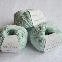Katia Моточная пряжа Cotton-Cashmere материал  кашемир+хлопок цвет pastel green 67