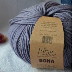 Fibranatura Моточная пряжа Dona материал меринос цвет серый с голубым отливом 106-36
