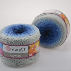 Yarnart Моточная пряжа Flowers материал хлопок +акрил цвет  мултиколор 271