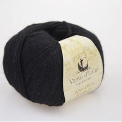 Vento d'Italia Моточная пряжа Angora 70 Rabbit материал ангора цвет черный 30