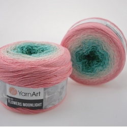 Yarnart Моточная пряжа Flowers Moonlight материал хлопок +люрекс цвет  мултиколор 3292