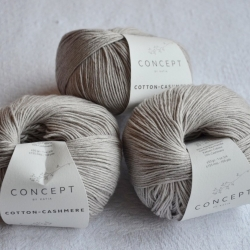 Katia Моточная пряжа Cotton-Cashmere материал  кашемир+хлопок цвет stone grey 56