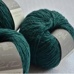 Casagrande Моточная пряжа CashTweed материал меринос+кашемир цвет зеленый 506