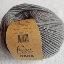 Fibranatura Моточная пряжа Dona материал меринос серый 106-37