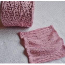 Malavasi Пряжа на бобинах Merino/pailletts материал смесовка цвет розовый