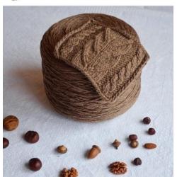Lana Gatto Пряжа на бобинах Hitwool материал меринос цвет печенья