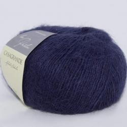 Casagrande Моточная пряжа La Perla материал альпака, шелк цвет темный синий 12