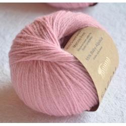 Gazzal Fancy Yarns Моточная пряжа Baby Alpaca материал  альпака цвет розовая пудра 46007