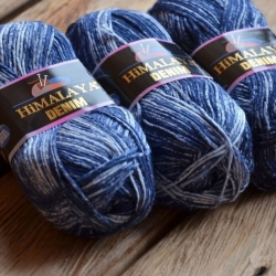Himalaya Моточная пряжа Denim материал  хлопок цвет  темно-синий  115-04