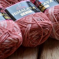 Himalaya Моточная пряжа Denim материал  хлопок цвет  терракот  115-24